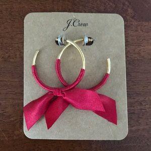 J. Crew ribbon earrings